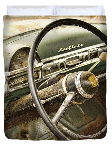 1951 Nash Ambassador Interior Duvet Cover by James BO  Insogna