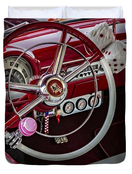 1953 Ford Crestline Victoria Duvet Cover by Susan Candelario