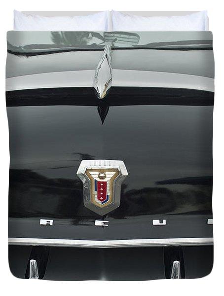 1953 Mercury Monterey Convertible Hood Emblem Duvet Cover