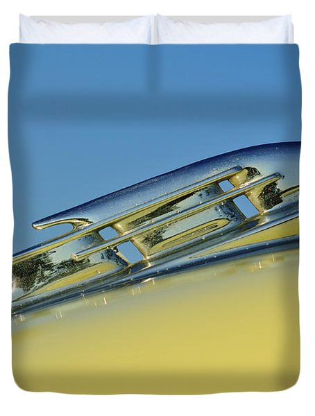 1953 Plymouth Hood Ornament 2 Duvet Cover by Jill Reger