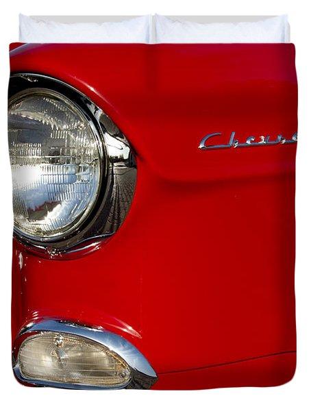 1955 Chevrolet 210 Headlight Duvet Cover by Jill Reger