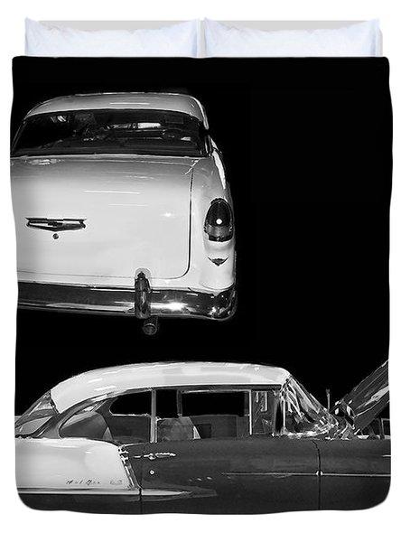 1955 Chevy Bel Air 2 Door Hard Top Duvet Cover by Tim Mulina