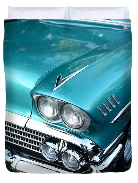 1955 Chevy Belair Front End Duvet Cover by Paul Ward