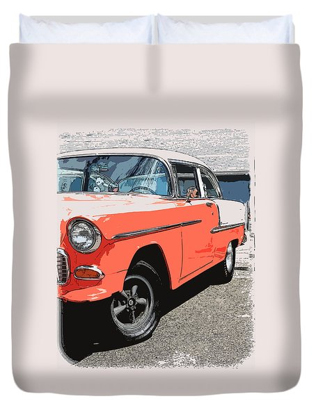 1955 Chevy Duvet Cover by Steve McKinzie