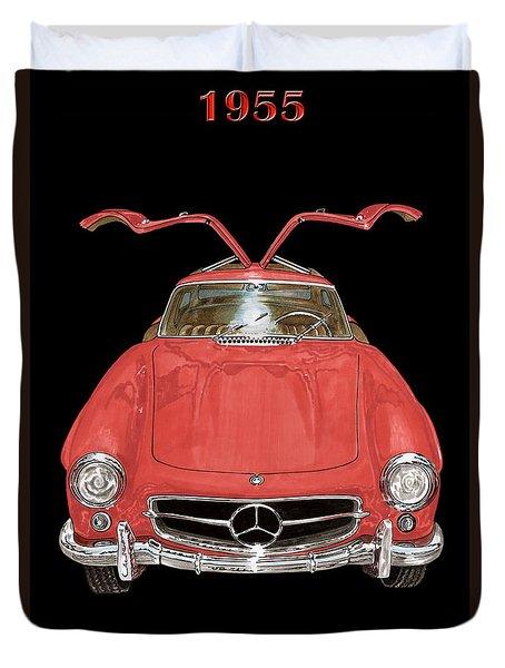1955 Mercedes Benz 300sl Gull Wing  Duvet Cover by Jack Pumphrey