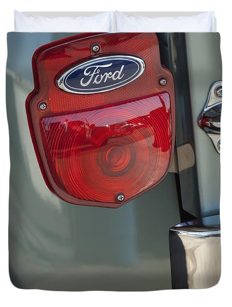 1956 Ford F-100 Truck Taillight Duvet Cover by Jill Reger