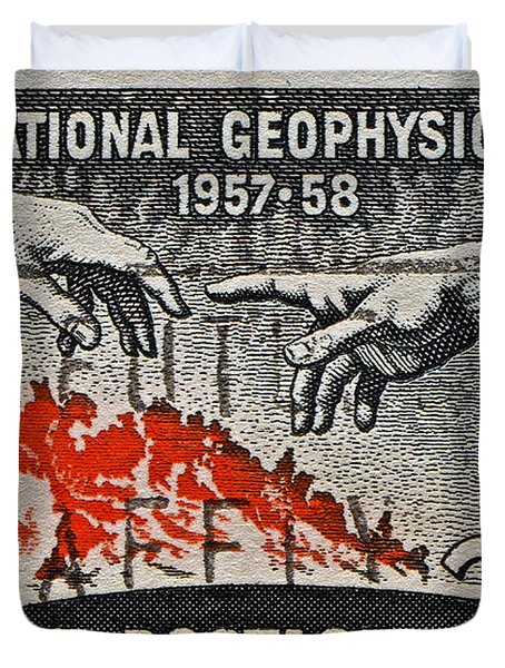 1957-1958 International Geophysical Year Stamp Duvet Cover