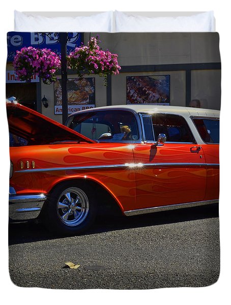 1957 Belair Wagon Duvet Cover