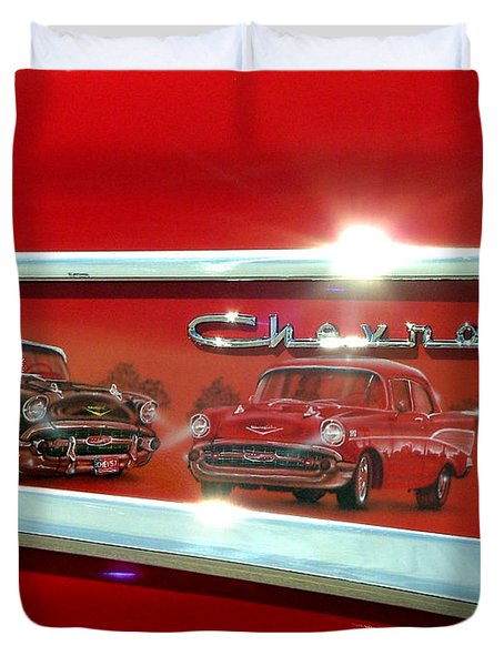 1957 Chevrolet Duvet Cover
