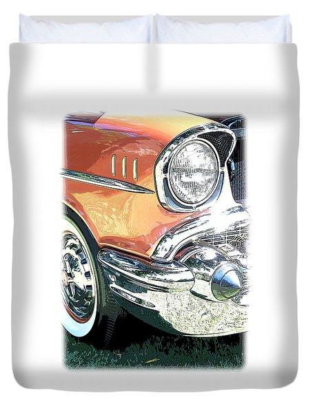 1957 Chevy Duvet Cover by Steve McKinzie