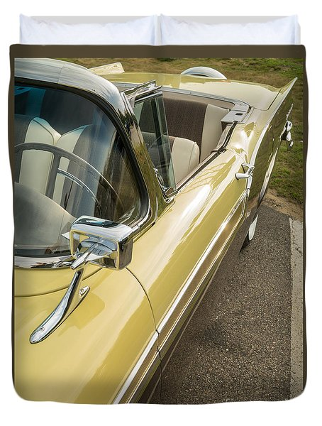 1957 Ford Fairlane 500 Skyliner Retractable Hardtop Convertible Duvet Cover