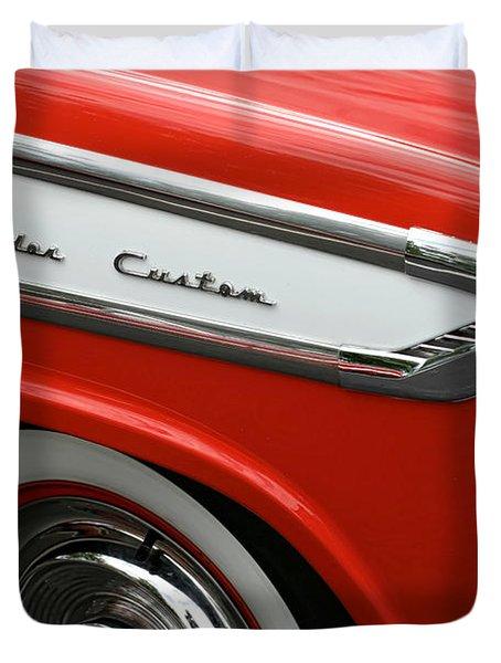 1957 Nash Ambassador Custom Duvet Cover by Gordon Dean II