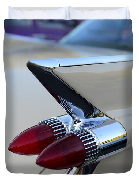 1958 Cadillac Tail Lights Duvet Cover by Paul Ward
