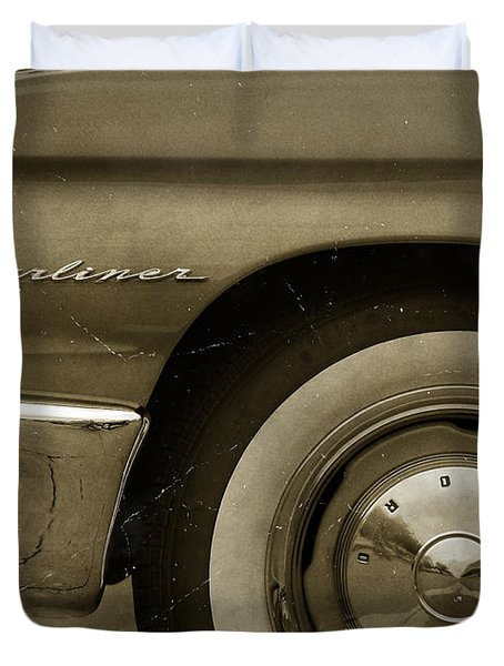 1961 Ford Starliner Duvet Cover by Gordon Dean II