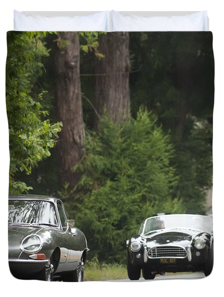 1961 Jaguar E-type 3.8 Litre Fixed Head Coupe Duvet Cover by Jill Reger