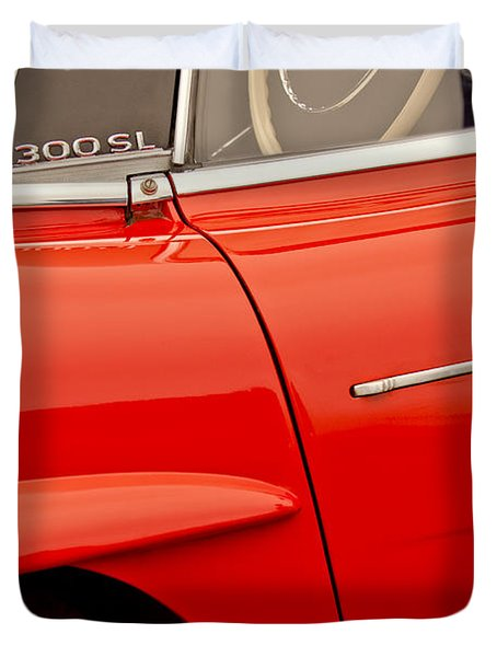 1962 Mercedes-benz 300 Sl Roadster Duvet Cover by Jill Reger