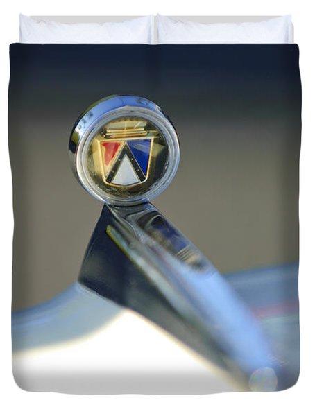 1963 Ford Futura Hood Ornament Duvet Cover by Jill Reger