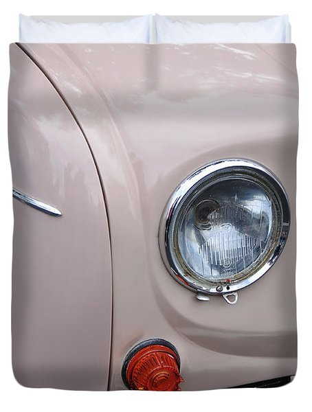 1963 Renault R4 - Headlight And Grill Duvet Cover by Kaye Menner