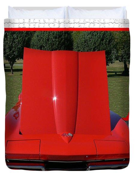1965 Corvette Duvet Cover by EricaMaxine  Price