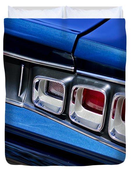 1968 Dodge Coronet Rt Hemi Convertible Taillight Emblem Duvet Cover by Jill Reger