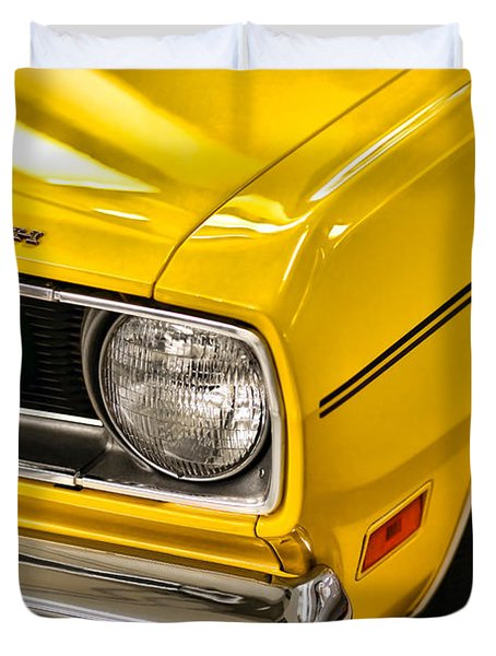 1970 Plymouth Duster 340 Duvet Cover by Gordon Dean II