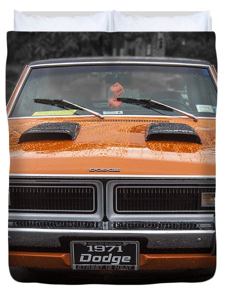 1971 Dodge Classic Duvet Cover by Darleen Stry