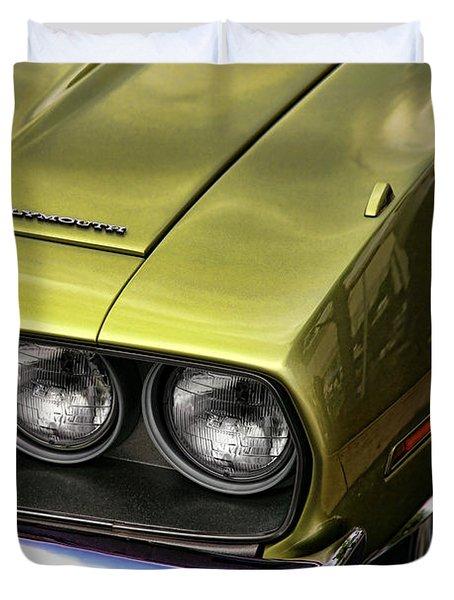 1971 Plymouth Barracuda 360 Duvet Cover by Gordon Dean II