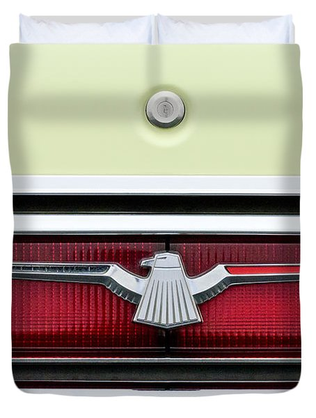 1972 Ford Thunderbird Taillight Emblem Duvet Cover