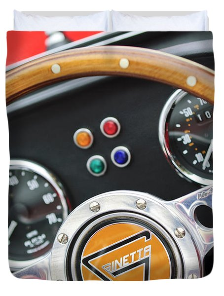 1972 Ginetta Steering Wheel Emblem Duvet Cover