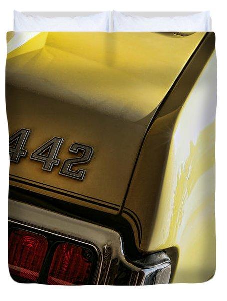 1972 Oldsmobile 442 Duvet Cover by Gordon Dean II