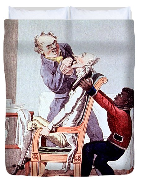 19th Century Dentistry Tooth Extraction Duvet Cover by Science Source