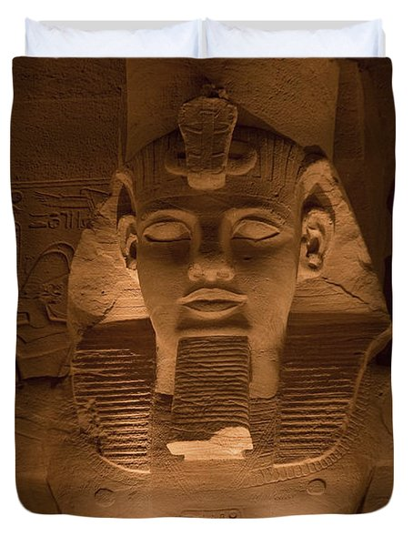 A Close View Of Ramses IIs Temple Duvet Cover by Taylor S. Kennedy