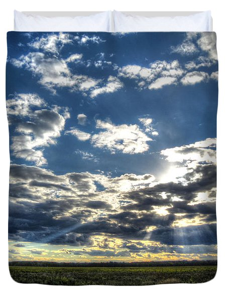 A September Sunset Duvet Cover by Jackie Novak