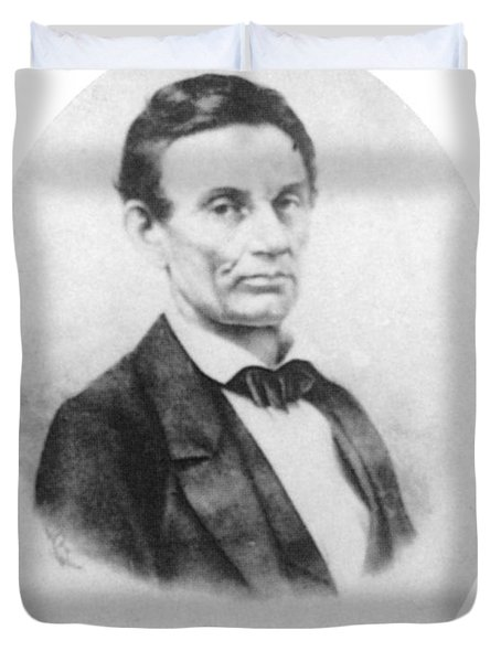 Abraham Lincoln, 16th American President Duvet Cover by Science Source