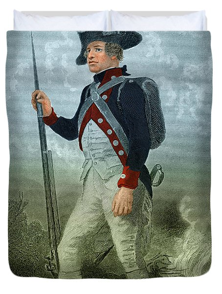 American Continental Soldier Duvet Cover by Photo Researchers