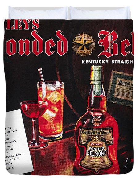 American Whiskey Ad, 1938 Duvet Cover by Granger