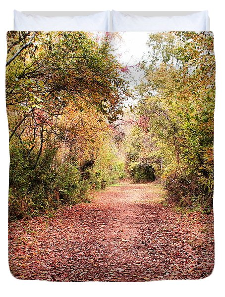 Duvet Cover featuring the photograph Autumn Trail by Rick Friedle