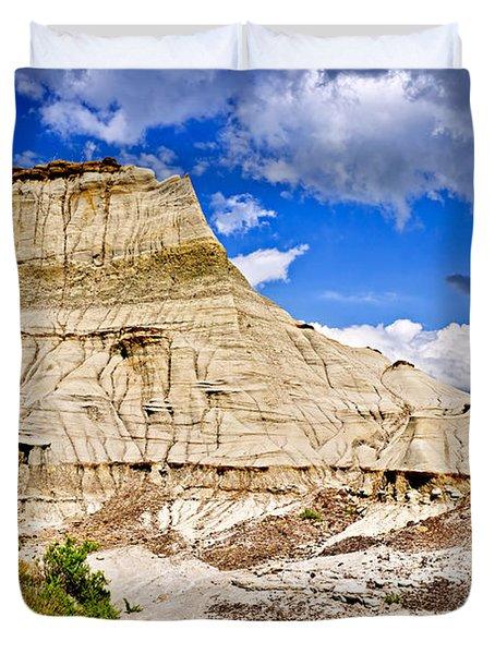 Badlands In Alberta Duvet Cover