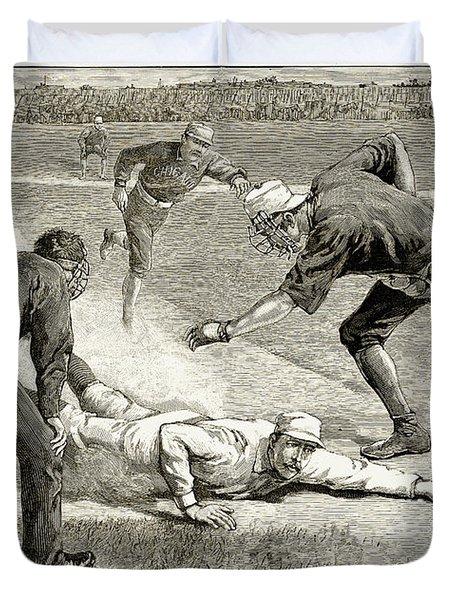 Baseball Game, 1885 Duvet Cover by Granger