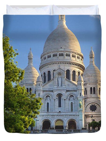 Basilique Du Sacre Coeur Duvet Cover by Brian Jannsen