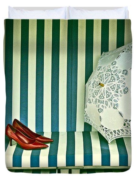 Beach Chair Duvet Cover by Joana Kruse