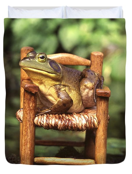 Bullfrog Duvet Cover by Kenneth H Thomas and Photo Researchers