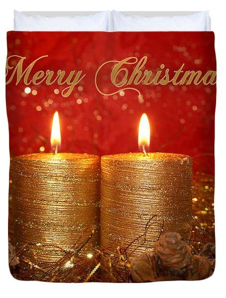 2 Candles Christmas Card Photograph by Aimelle