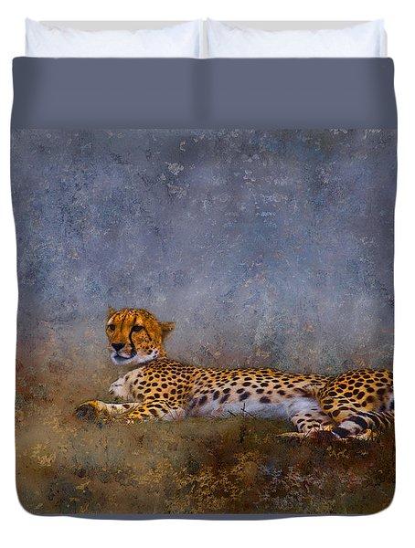 Cheetah Duvet Cover by Ron Jones