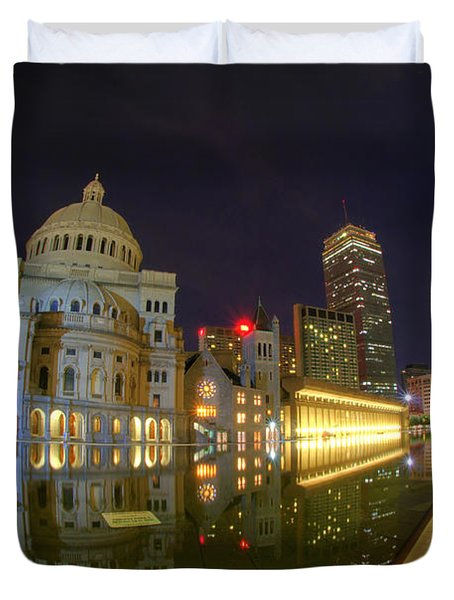 Christian Science Center-boston Duvet Cover by Joann Vitali