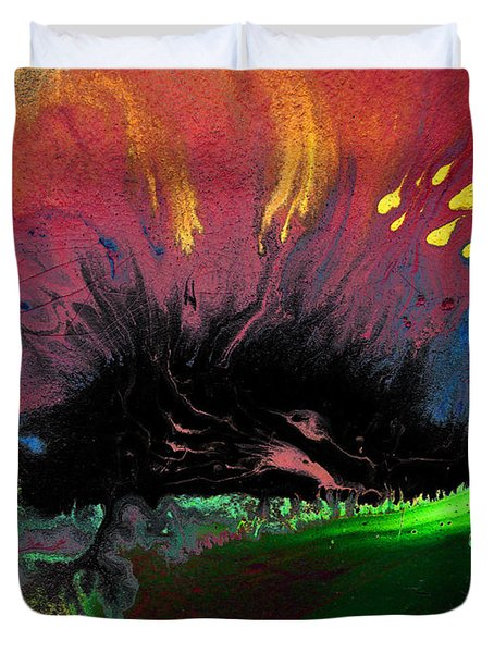 Colorful Water Color Painting Duvet Cover by Sumit Mehndiratta