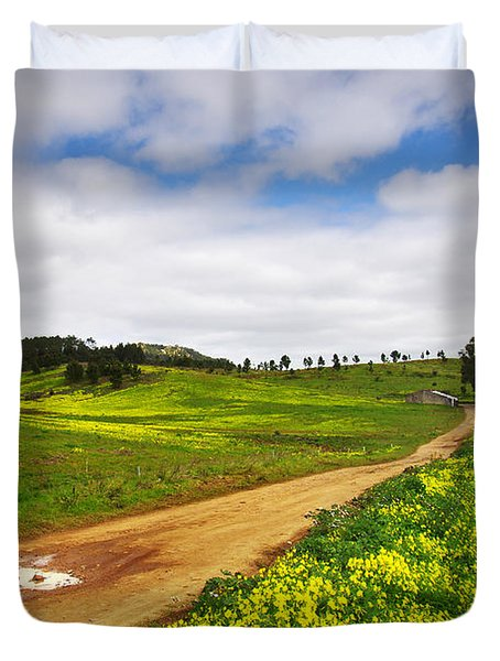 Countryside Landscape Duvet Cover by Carlos Caetano