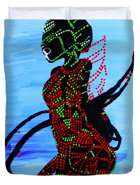 Dinka Bride - South Sudan Duvet Cover by Gloria Ssali
