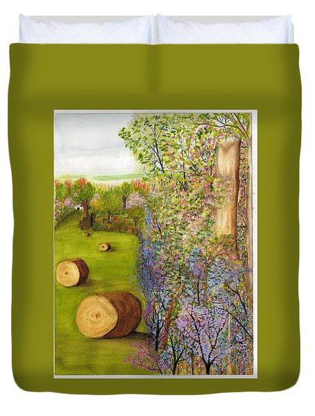 Dogwoods And Redbuds Duvet Cover