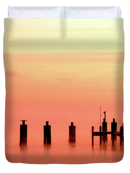 Duvet Cover featuring the photograph Eery Morn by Clayton Bruster
